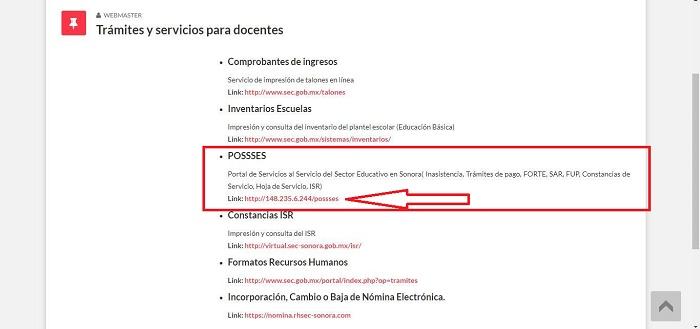 Possses SEC Sonora