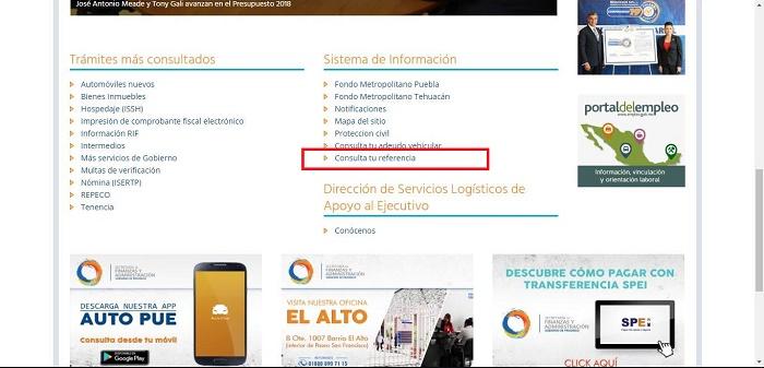 Referencia tenencia Puebla