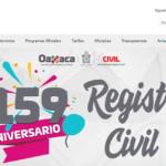Registro Civil de Oaxaca • Trámites y Tarifas