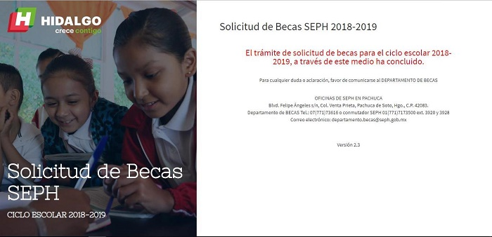 Registro de becas SEP Hidalgo