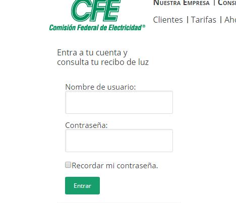 Logueo CFE