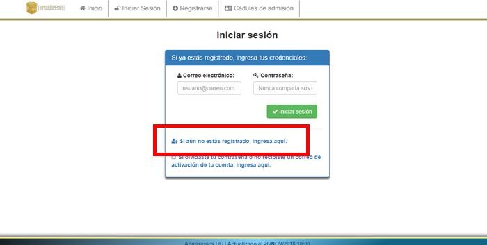 crear usuario universidad de guanajuato