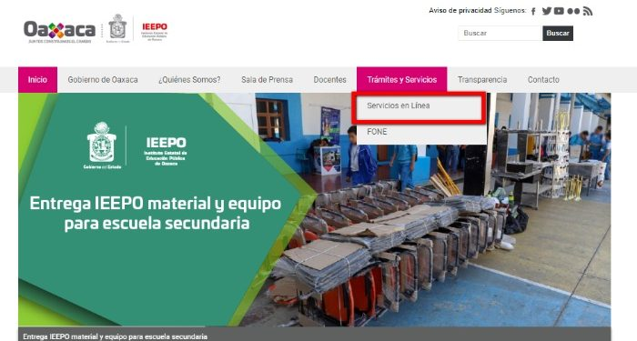 portal web ieepo