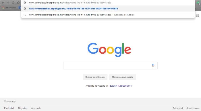 busqueda en el navegador