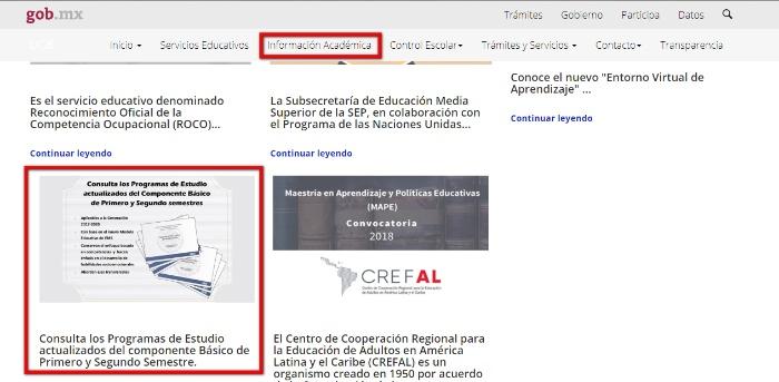 acceso a informacion academica
