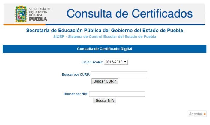 consulta de certificados