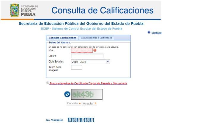 tema del control escolar calificaciones