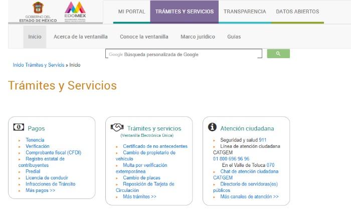 tramites y servicios